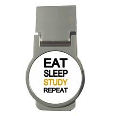 Eat sleep study repeat Money Clips (Round)