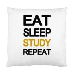 Eat sleep study repeat Standard Cushion Case (Two Sides)