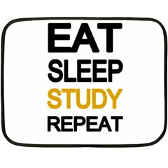 Eat sleep study repeat Double Sided Fleece Blanket (Mini)