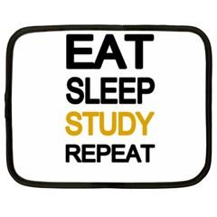 Eat sleep study repeat Netbook Case (XL)