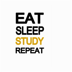 Eat sleep study repeat Large Garden Flag (Two Sides)