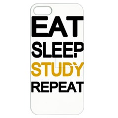 Eat sleep study repeat Apple iPhone 5 Hardshell Case with Stand