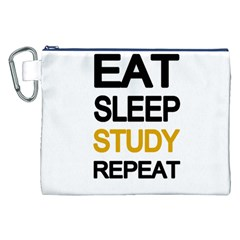 Eat sleep study repeat Canvas Cosmetic Bag (XXL)