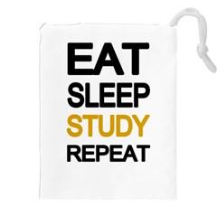 Eat sleep study repeat Drawstring Pouches (XXL)