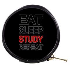 Eat sleep study repeat Mini Makeup Bags