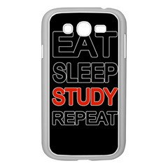 Eat sleep study repeat Samsung Galaxy Grand DUOS I9082 Case (White)