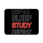 Eat sleep study repeat Double Sided Flano Blanket (Mini)  35 x27 Blanket Back