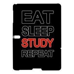Eat sleep study repeat Samsung Galaxy Tab S (10.5 ) Hardshell Case