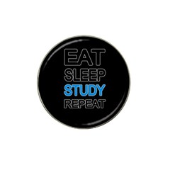Eat sleep study repeat Hat Clip Ball Marker (4 pack)
