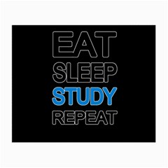 Eat sleep study repeat Small Glasses Cloth