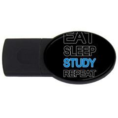Eat sleep study repeat USB Flash Drive Oval (4 GB)