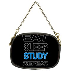 Eat sleep study repeat Chain Purses (One Side)