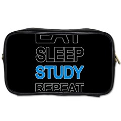 Eat sleep study repeat Toiletries Bags