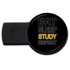 Eat sleep study repeat USB Flash Drive Round (2 GB)