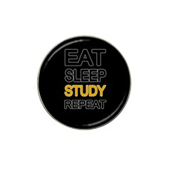 Eat sleep study repeat Hat Clip Ball Marker (10 pack)