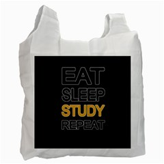 Eat sleep study repeat Recycle Bag (Two Side)