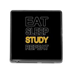 Eat sleep study repeat Memory Card Reader (Square)