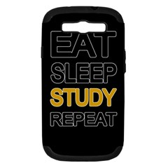 Eat sleep study repeat Samsung Galaxy S III Hardshell Case (PC+Silicone)