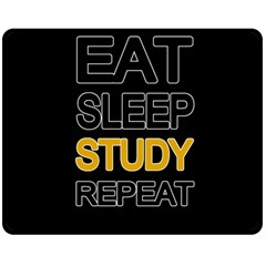 Eat sleep study repeat Double Sided Fleece Blanket (Medium)
