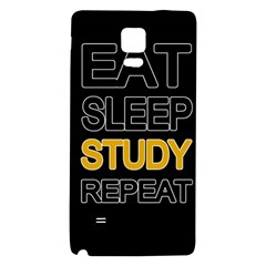 Eat sleep study repeat Galaxy Note 4 Back Case