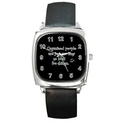 Lazy Square Metal Watch