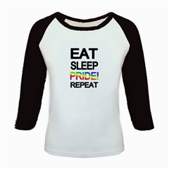Eat sleep pride repeat Kids Baseball Jerseys
