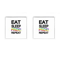 Eat sleep pride repeat Cufflinks (Square)