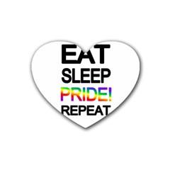Eat sleep pride repeat Heart Coaster (4 pack)