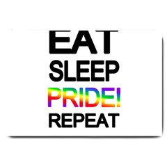 Eat sleep pride repeat Large Doormat