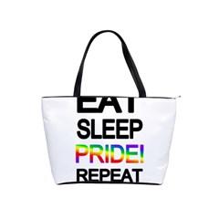 Eat sleep pride repeat Shoulder Handbags