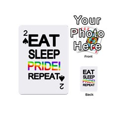 Eat sleep pride repeat Playing Cards 54 (Mini)