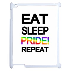 Eat sleep pride repeat Apple iPad 2 Case (White)