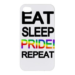 Eat sleep pride repeat Apple iPhone 4/4S Hardshell Case
