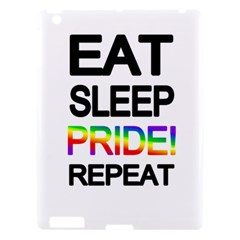 Eat sleep pride repeat Apple iPad 3/4 Hardshell Case