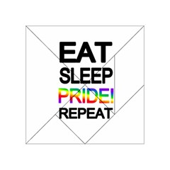 Eat sleep pride repeat Acrylic Tangram Puzzle (4  x 4 )