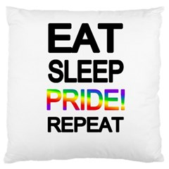 Eat sleep pride repeat Large Cushion Case (Two Sides)