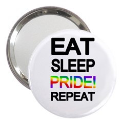 Eat sleep pride repeat 3  Handbag Mirrors