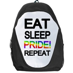 Eat sleep pride repeat Backpack Bag