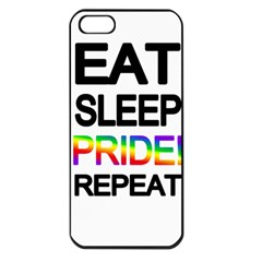 Eat sleep pride repeat Apple iPhone 5 Seamless Case (Black)