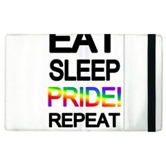 Eat sleep pride repeat Apple iPad 3/4 Flip Case