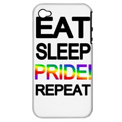 Eat sleep pride repeat Apple iPhone 4/4S Hardshell Case (PC+Silicone)