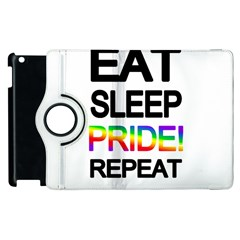 Eat sleep pride repeat Apple iPad 3/4 Flip 360 Case