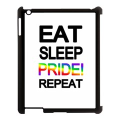 Eat sleep pride repeat Apple iPad 3/4 Case (Black)