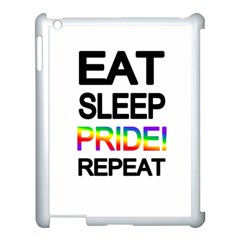 Eat sleep pride repeat Apple iPad 3/4 Case (White)