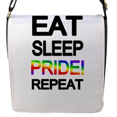 Eat sleep pride repeat Flap Messenger Bag (S)