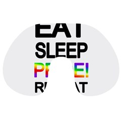 Eat sleep pride repeat Travel Neck Pillows