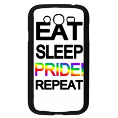 Eat sleep pride repeat Samsung Galaxy Grand DUOS I9082 Case (Black)