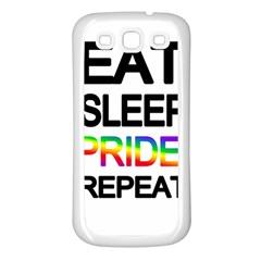 Eat sleep pride repeat Samsung Galaxy S3 Back Case (White)