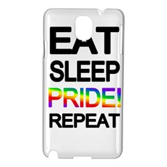 Eat sleep pride repeat Samsung Galaxy Note 3 N9005 Hardshell Case