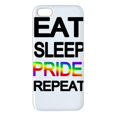Eat sleep pride repeat iPhone 5S/ SE Premium Hardshell Case